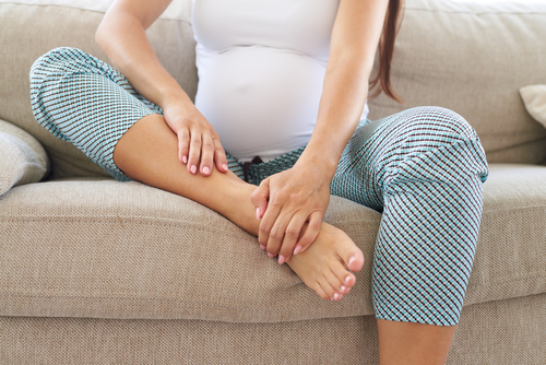 Pregnancy can cause swollen legs